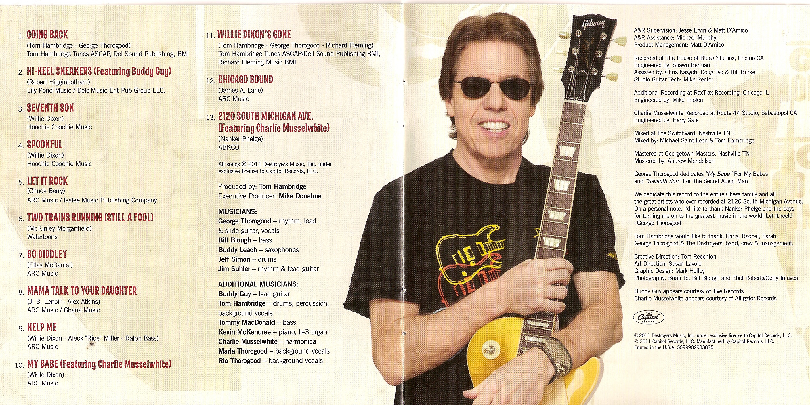 """GEORGE THOROGOOD & THE DESTROYERS """"2120 South Michigan Ave"""