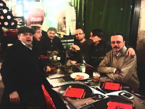 I Confratelli del blues, da sx a dx: Picca, Liso, Riff, Jaypee, Tim, Athos