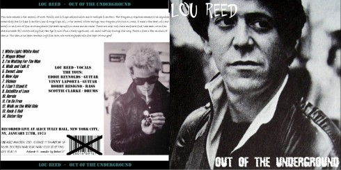 Lou Reed NYC 1973