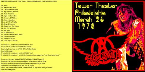 Aerosmith Philadelphia 23-03-1978 front aa