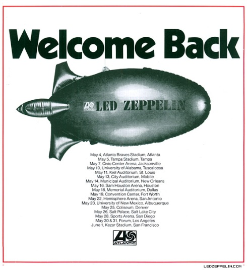 led zeppelin 1973 tour dates