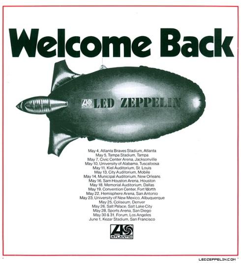 led zeppelin 1973 tour dates