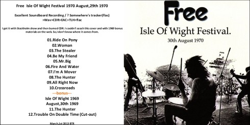 FREE - Isle Of Wight 1970 front cover