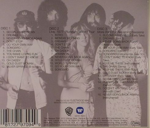 FLEETWOOD MAC Rumors 2013 expanded edition BACK