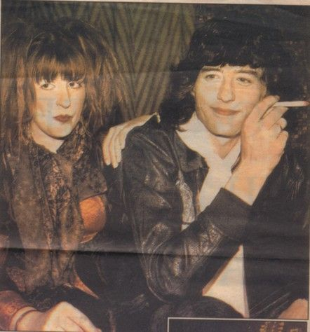 Charlotte Martin e Jimmy Page early 80s
