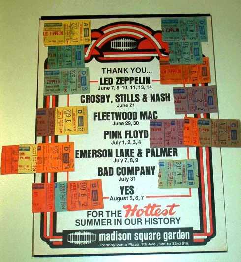 Programma del Madison Square Garden dell'estate del 1977