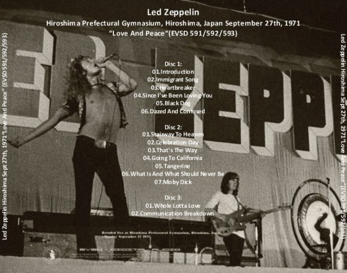 Led Zeppelin Hiroshima 1971 Empress valley 2013