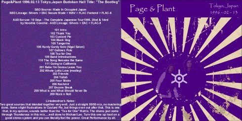 page and plant - TOKYO 13 FEB 1966 front cover