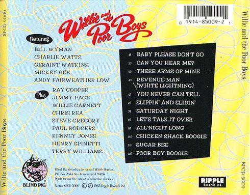 Willie And The Poor Boys - Willie And The Poor Boys - Back