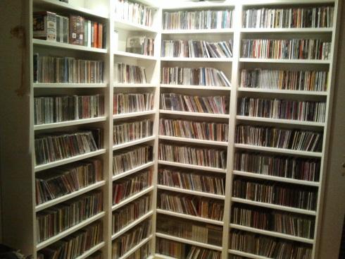 Gli scaffali di cd di Tim Tirelli