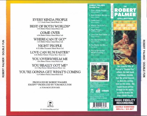 Robert Palmer Double Fun back cover