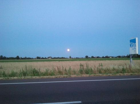 Luna piena su Molino Di Gazzata - foto di TT