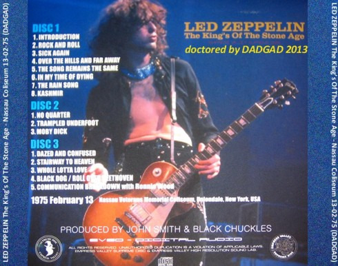 Led Zeppelin The Kings Of The Stone Age DADGAD 2013 retro