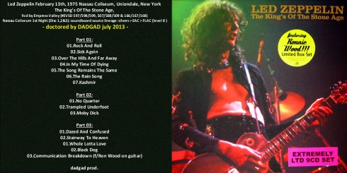Led Zep the Kings Of The Stone Age Dadgad 2013 fronte