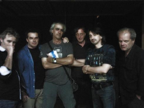 Illuminati del Blues alla Domus Saurea - Luglio 2013 (da sx a dx: Riff, Biccio, Sutus, Liso, Tim, Picca)