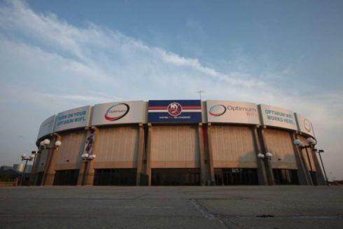 Nassau Coliseum - arena dell'aera di New York che negli anni settanta poteva ospitare 15.ooo spettatori.