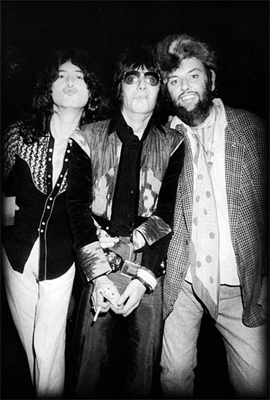 JP, Ron Wood e Peter Grant - New York febbraio 1975