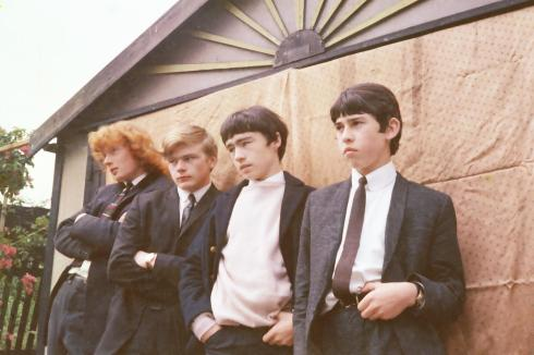 THE ROADRUNNERS circa 1966: da sx a dx David Usher, Colin Bradley, Paul Rodgers, Micky Moody