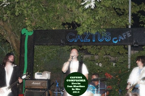 CATTIVA COMPAGNIA - Live in SMIR 2013: da sx Lorenz, Pol, Lele, Tim