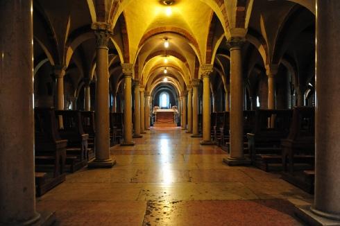 La cripta dell'abbazia di NNT