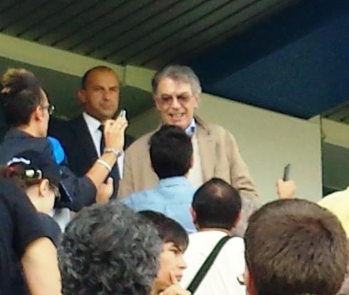 Massimo Moratti - Sassuolo-Inter 22-9-13 - foto di Saura Terenziani