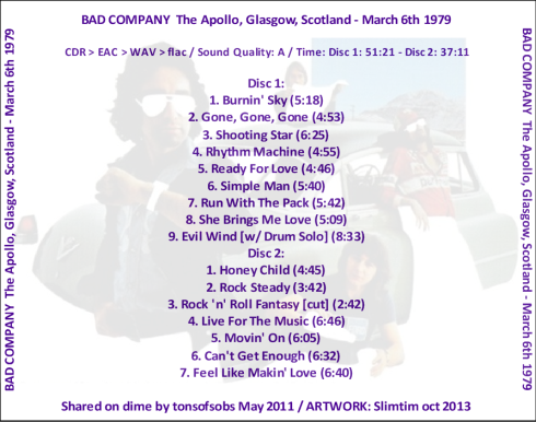 Bad Co Glasgow 6-3-1979 b