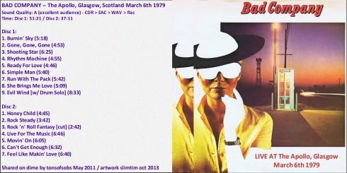 BAD CO Glasgow 6-3-1979 a