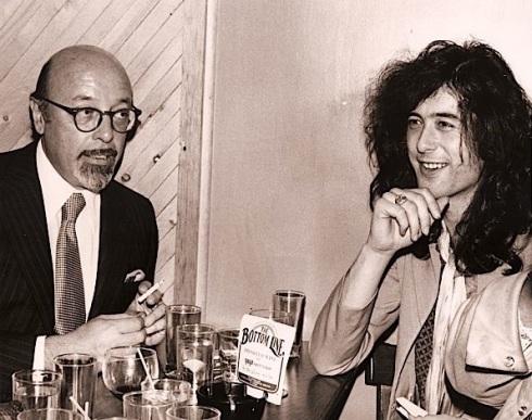 Ahmet Ertegun & Jimmy Page