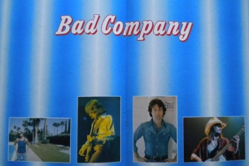 BAD COMPANY british Tour 1979 programme inside