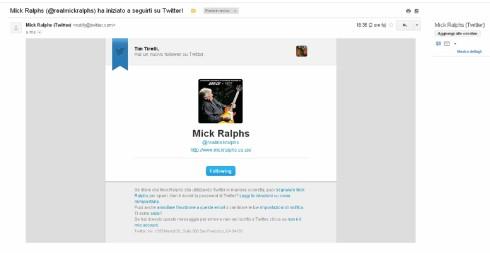 Mick Ralphs mi segue su twitter