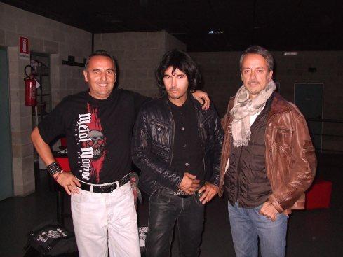 Una recente foto di BEPPE RIVA (il primo a dx), insieme a STEVE SILVESTER (in centro) e STEVEN RICH.