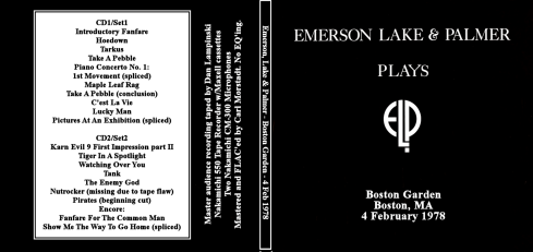 ELP Boston garden 4th feb 1978