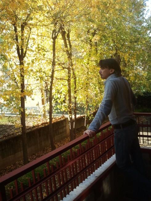 Tim Tirelli osserva gli aceri mentre pensa ai MOTT THE HOOPLE e agli ELP - Foto di Cassy