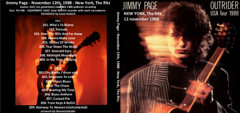 Jimmy Page-  New York -  The Ritz 12 nov 1988