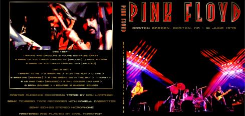 Pink Floyd 18-06-1975 - sleeve cover