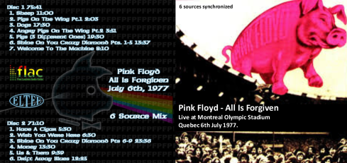 Pink Floyd All Is Forgiven Montreal 1977 bootleg cover