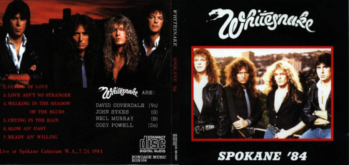Whitesnake Spkane 1984 bootleg artwork