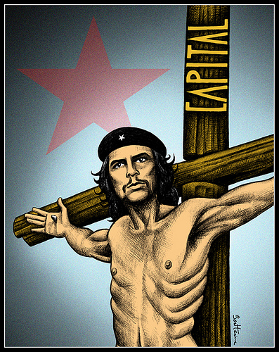 Che Guevara crucifixed