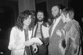 Jimmy Page, Richard Cole, Peter Grant, Liza Minelli