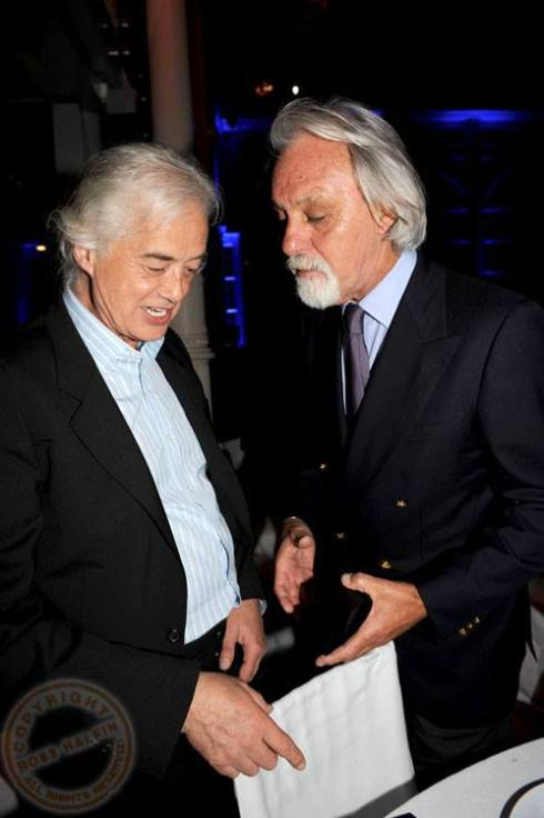 Jimmy Page & Richard Cole - photo by Ross Halfin