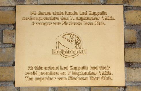 LZ plate Gladsaxe 7 sept 1968  (photo by Flemming Hjollund - www,ledzeppelin1968.com)