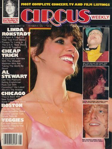 CIRCUS magazine Linda Ronstadt 1978
