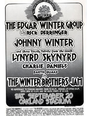 Johnny & Edgar Winter 1975 poster