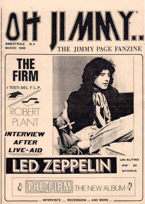 OH JIMMY 4   the Jimmy Page fanzine