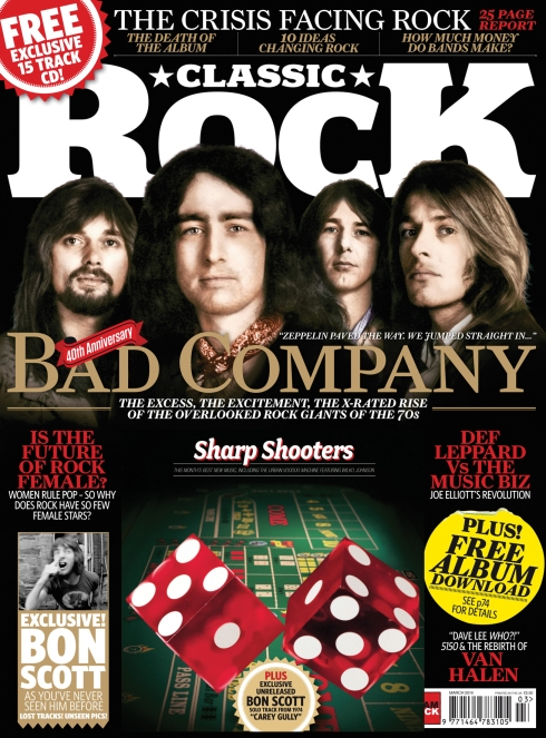 CLASSIC ROCK UK N.194 MARCH 21014 - BAD COMPANY COVER