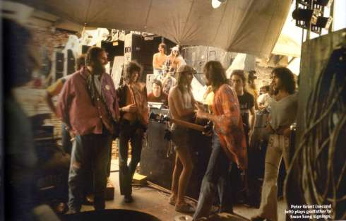 BAD CO - backstage in Tx 1974 con Peter Grant e Jimmy Page
