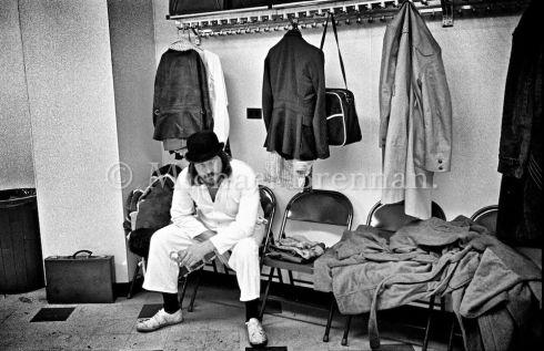 John Henry Bonham backstage in Detroit 1975