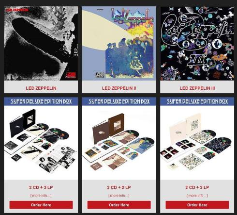 led zeppelin firs three deluxe editions