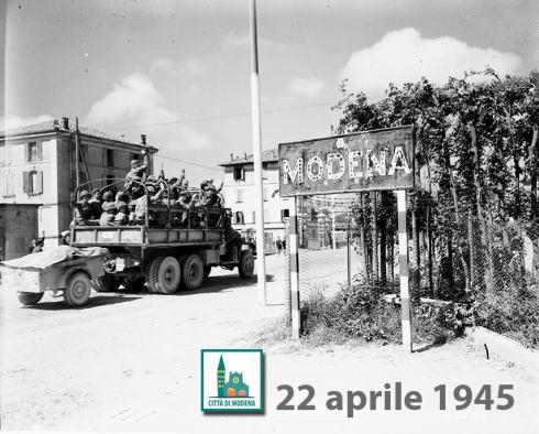Modena il 22 aprile 1945