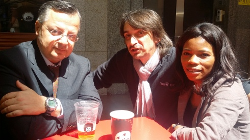 Laying In The Sun in Milano: da sx a dx Doc, Timmy boy, Brown Sugar  (foto della groupie)